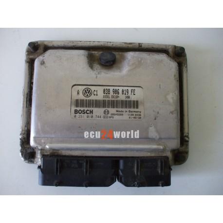 038906019FE 0281010744 VW GOLF IV 1,9 TDI ECU